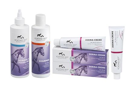 Tiermedizinische Hautpflege für Pferde: Ichtho Vet Produkten