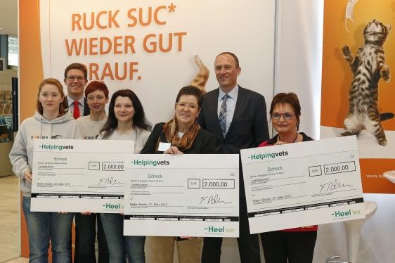 Helping Vets Scheckübergabe 2015.